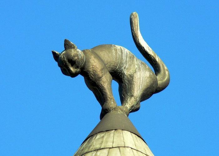 Достопримечательности Риги: дом с кошками