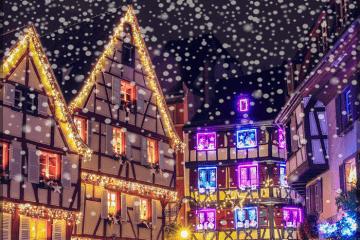 на фото: рождественский Страсбург