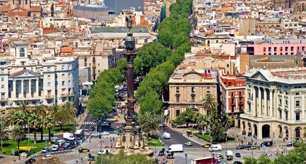 Барселона бульвар Ла Рамбла