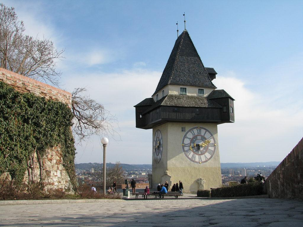 замок Шлоссберг Грац